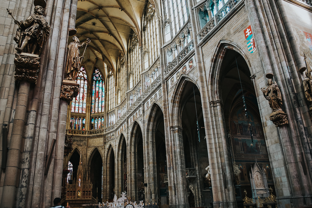 Inside St Vitus Cathedral