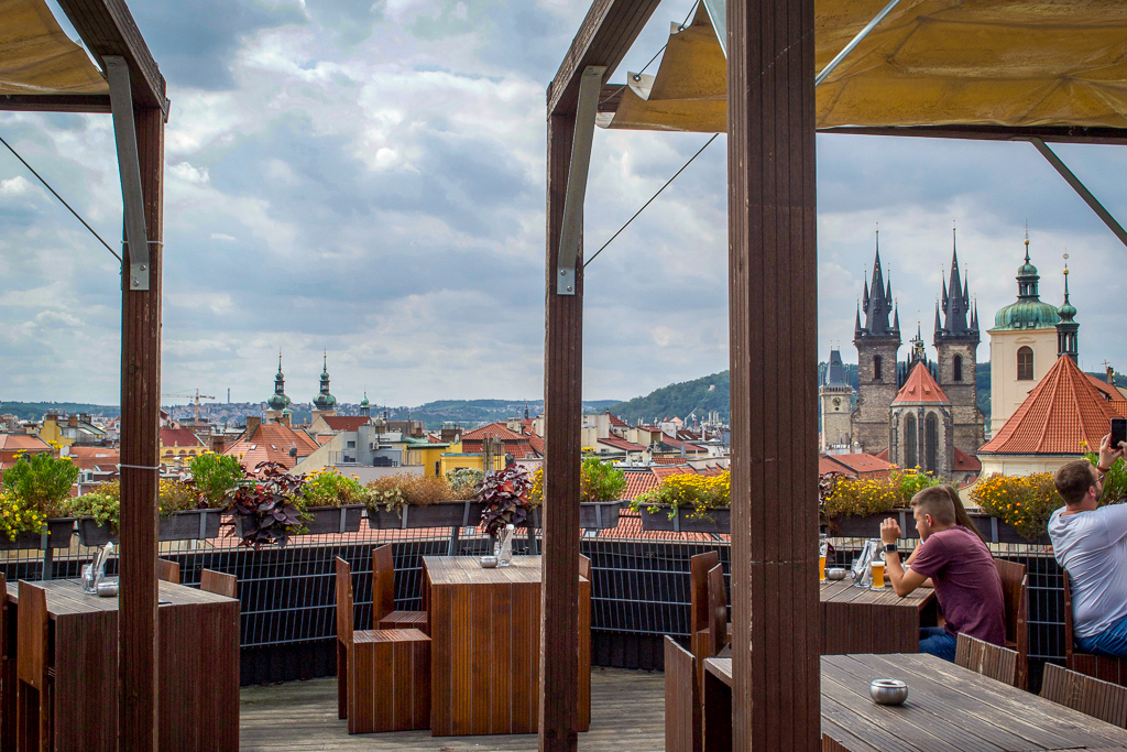 Rooftop terrace at T-Anker Prague