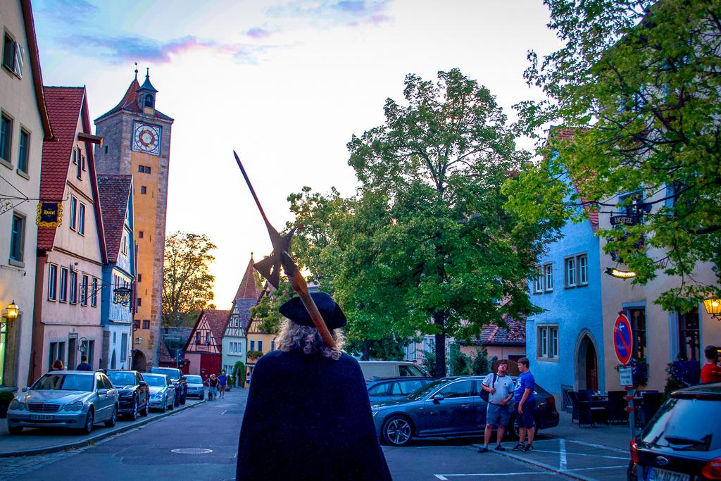 Rothenburg Night Watchman Tour walking