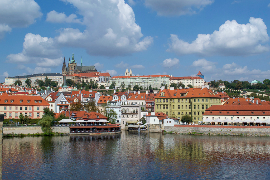 Prague Castle and St Vitus Cathedral from the Charles Bridge