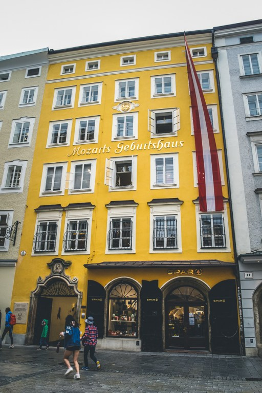 Mozart Birthplace museum front
