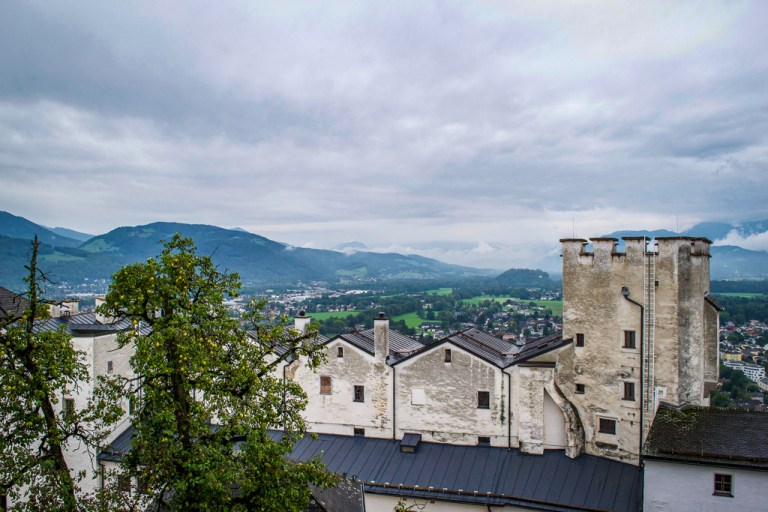 Salzburg Fortress and mountains beyond