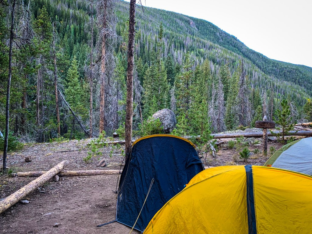 Twinberry backcountry campsite in Rocky Mountain National Park