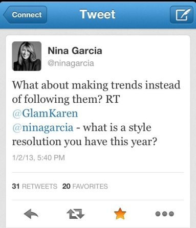 Nina Garcia tweet