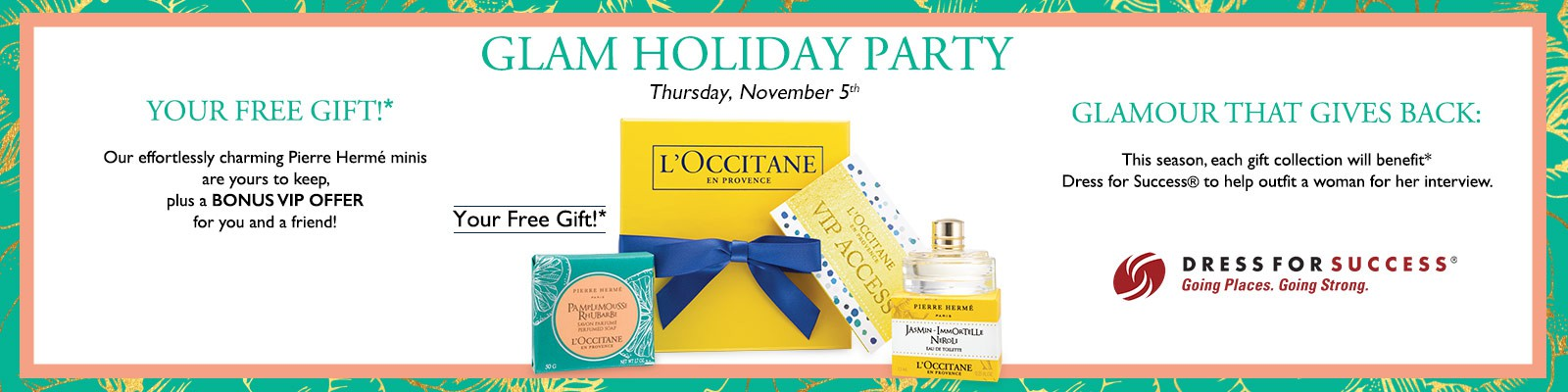 You don't want to miss this Glam Holiday Event hosted by L'OCCITANE! www.GlamKaren.com