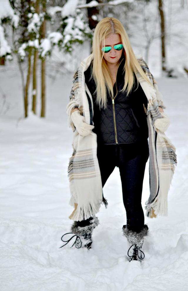 Snowy Day Outfit Inspiration & Ideas | GlamKaren.com