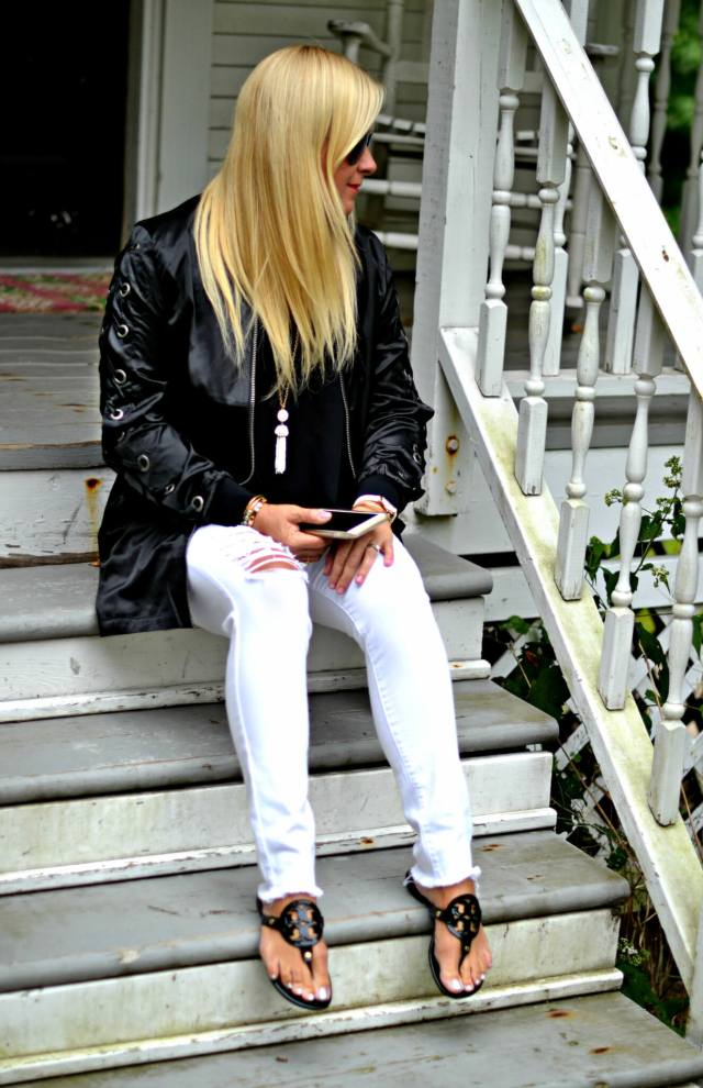 How to Wear White Denim in the Fall