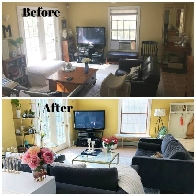 How to do a Living Room Makeover (+Before & After Pics). #homedecor #homestyling #vintagestyle #home #renovation #homegoals #decor #homedecor #interiors #interiordesign #interiorstruly #interiors2you #decorcrushing #mybhg #myhousebeautiful #inspireushomedecor #howyouhome #LTKhome #homeinspo #inspireushomedecor #howyouhome #wallpaper #beforeafterphoto