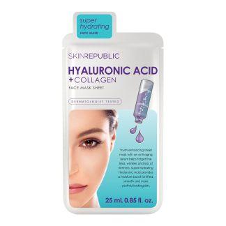 Skin Republic Hyaluronic Acid+Collagen Gesichts Tuchmaske