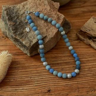 Halskette Aventurin blau