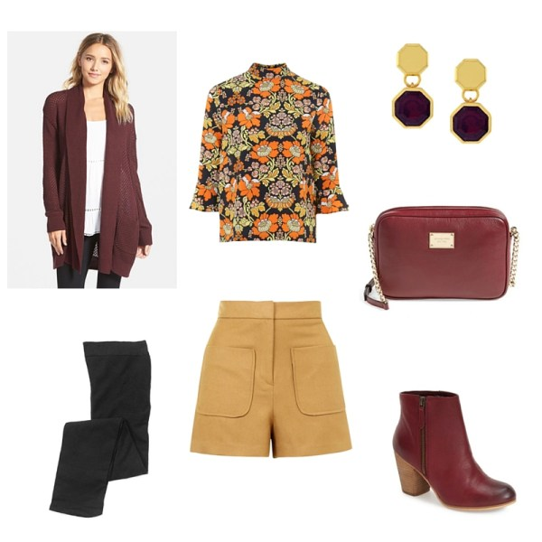 Fall burgundy/mustard/black look