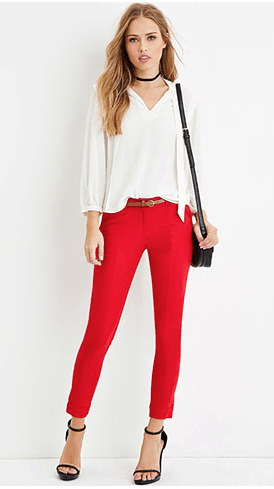 Belted Center-Seam Pants