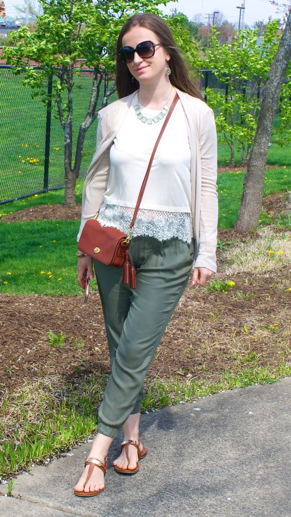 Green and Lace Outfit Idea