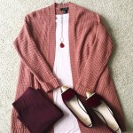 Mauve Cardigan – Two Looks
