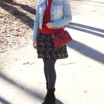 Floral Skirt, Denim and Red – Spring Outfit Idea