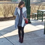 Grey Coat/Wrap – Winter Outfit Idea