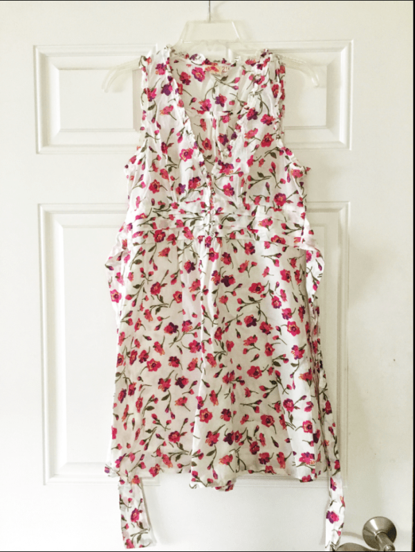 White and Pink Floral Dress for sale