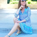 Blue And Purple Bohemian Summer Dress