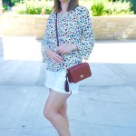 Floral Print Top and White Shorts – Summer Outfit Idea