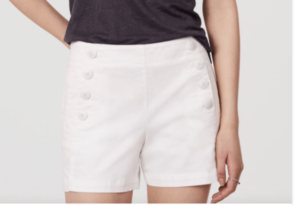 White Riviera Shorts