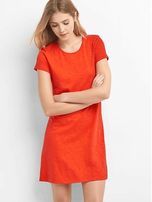 TWIST-BACK T-SHIRT DRESS