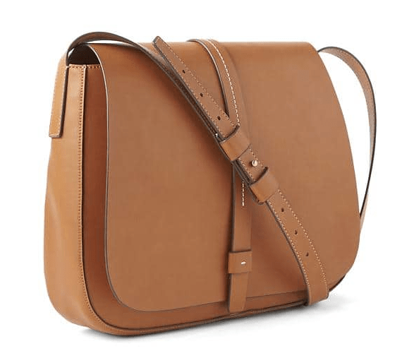 Large saddle crossbody bag