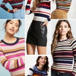 Multicolor Striped Sweaters For Fall