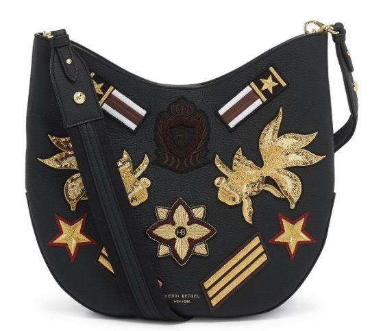 WEST 57TH MILITARY PATCH CROSSBODY HOBO