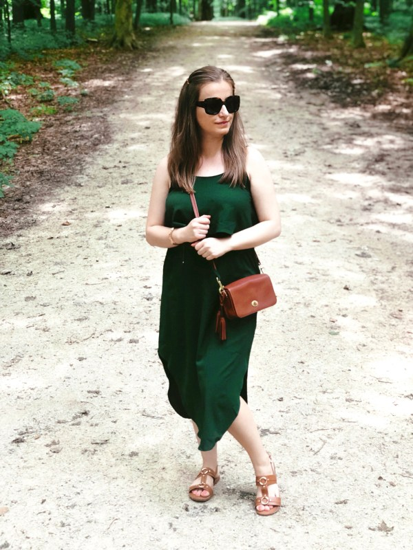 b102703c98 This might be my favorite dress this summer. First of all, let's talk about  its beautiful emerald green color. You won't find many green dresses in my  ...
