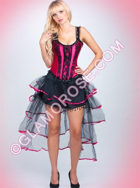Burlesque Corset And Bustle Skirt