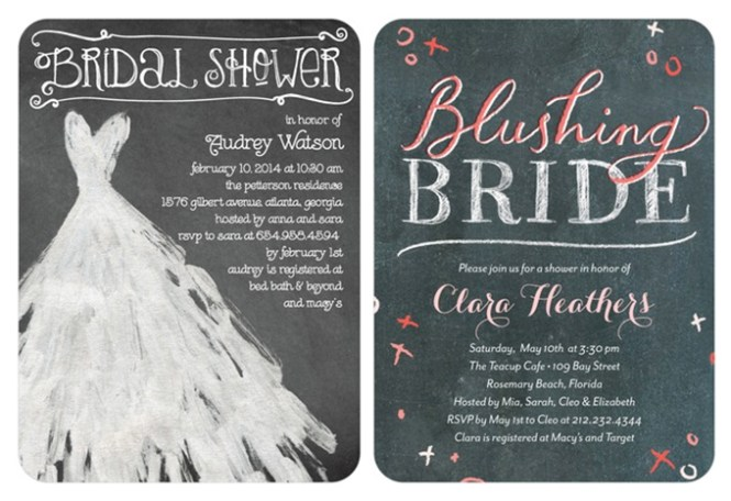Bridal Shower Invitations Wedding Paper Divas