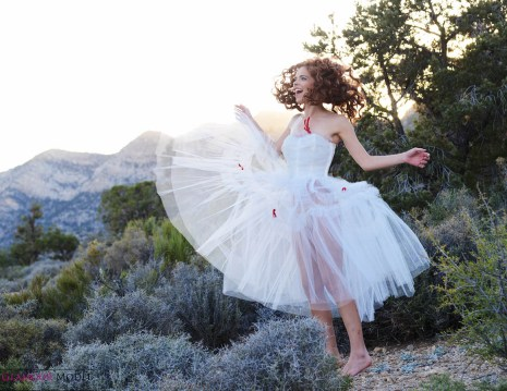 April Berry being free in the mountains of Las Vegas