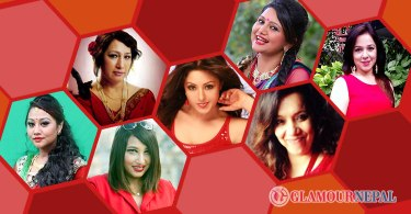 Nepali Celebrities in Red Outfits Photo