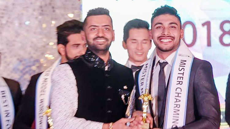 Suraj bagged Mister Charming Smile at Mister Model World Wide 2018