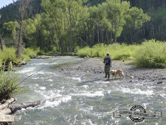 Trying to catch trout, San Miguel River, Telluride, CO.