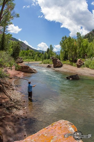 Fly fishing along the Crystal River. Redstone Campground, Carbondale, CO