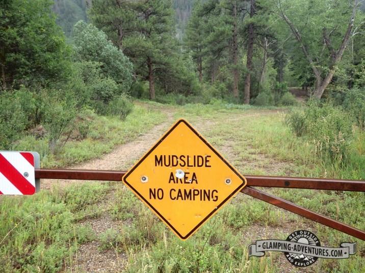 Lots of mudslide warnings along Avalanche Road.
