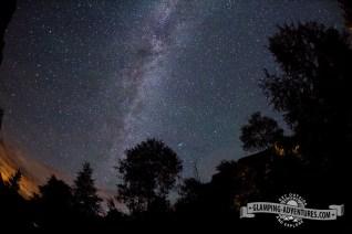 Milky Way above the campsite.