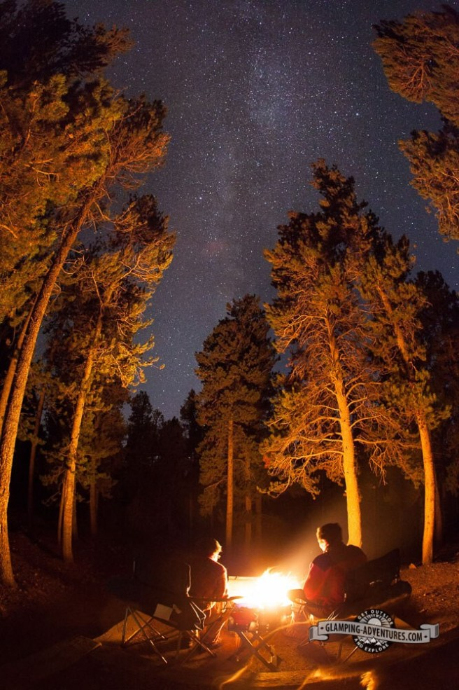 Milky Way over our camp. Golden Gate Canyon S.P.