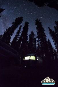View of the stars. Cobbett Lake CG, Grand Mesa CO.