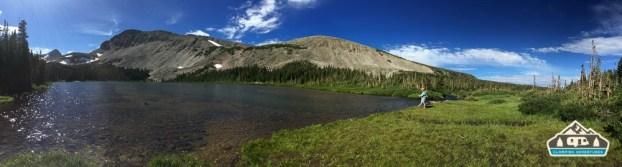 Fly fishing Mitchell Lake.