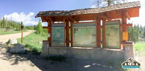 Info station on the way to Lost Lake. Grand Lake, CO.
