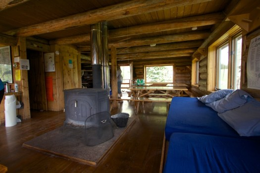 Shared common area of Harry Gates Hut