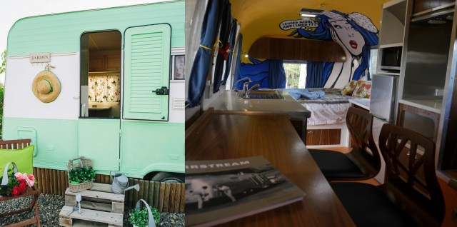 Glamping blog accommodations at Camping Miramar vintage trailer and Otway Escapes airstream in Australia