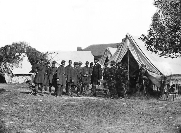 Abraham Lincoln and generals at Antietam - wikipedia