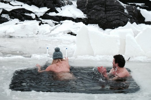 Glamping Blog News 8 Winter Activities Ice Bathing - Photo by Lacy