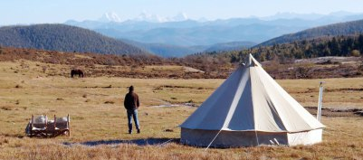 Canvascamp katoen tent voor glamping - ons idee