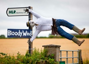 scarecrow in wind