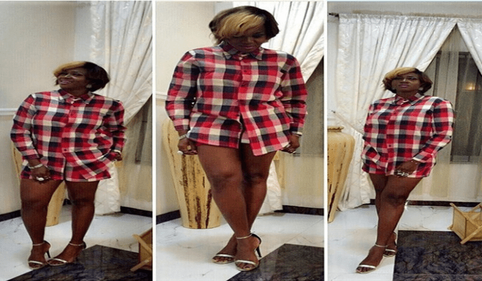 Sexy Look! Waje Flaunts Legs In Plaid Outfit