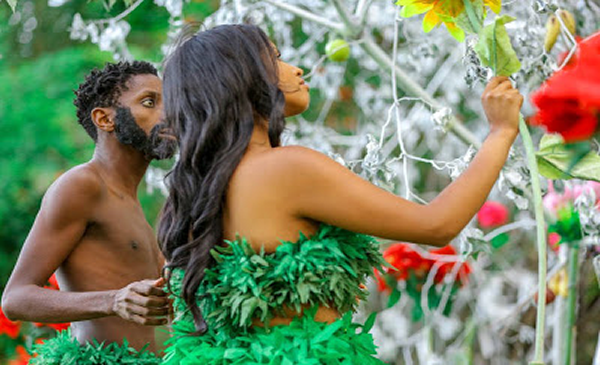 Photos: Couple Recreate Adam & Even In The Garden Ahead of Valentine's Day Celebration